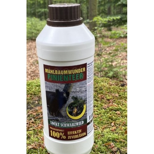 Wildlutscher Lure Temptation pine resin (tar) for boar and red deer, 1 liter